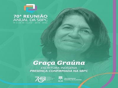 Presença confirmada de Graça Graúna na SBPC Afro e Indígena
